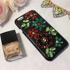 classic iphone cases for iphone 5, 6 6 6plus Genuine Leather plus Czech Crystal