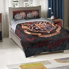 Harry Potter-School Motto Entertainment Twin/Full Bedding Set