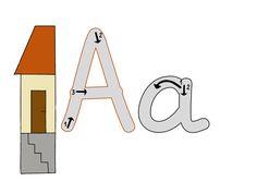 Buchstaben mit Richtungspfeilen in der Grundschrift