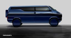 Concept design VW transporter by Manu Suero