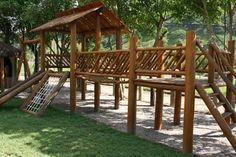 Resultado de imagem para playground de madeira eucalipto
