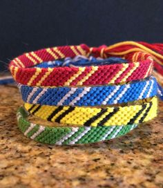Harry Potter friendship bracelets, now if only I had three other friends obsessed with Harry Potter