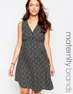 2f885f12c35e6 New Look Maternity Lattice Back Dress with Pattern Asos