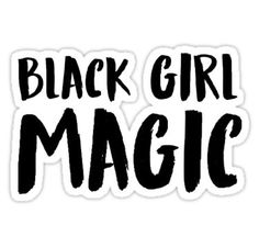 'Black Girl Magic' Sticker by Erin Azie Black Girl Art, Black Girl Fashion, Black Girl Magic, Black Girl Aesthetic, Quote Aesthetic, Purple Colour Shades, Black Girl Shirts, Magic Tattoo, Black Cartoon