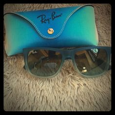 Ray Ban sunglasses Blue ombré frames. Comes with original case. Both sunglasses and case are in perfect condition! Ray-Ban Accessories Sunglasses
