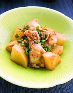 フライパンで簡単時短♪大根と鶏肉のスイートチリソース煮 by すたー ...