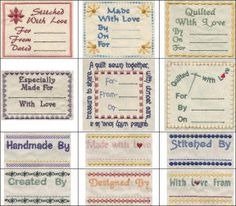 June Tailor - Creativity Center - Interactive Tools - Quilt Labels ... : quilting tags - Adamdwight.com