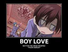Boy love, not for the weak hearted, *poor Haruhi*, text, funny, Haruhi, Kaoru, Hikaru, Honey; Ouran High School Host Club