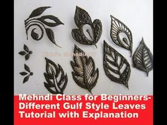 Mehndi Class for Beginners- Different Gulf Style Leaves Tutorial with Explanation Khafif Mehndi Design, Floral Henna Designs, Henna Tattoo Designs Simple, Arabic Henna Designs, Modern Mehndi Designs, Mehndi Designs For Beginners, Mehndi Design Photos, Mehndi Designs For Fingers, Mehndi Images