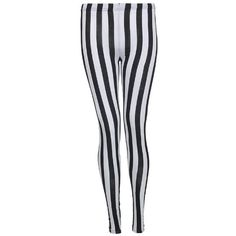 New Women Bang Cartoon Print Legging and Black White Stripe Stretchy... ($4.91) ❤ liked on Polyvore featuring pants, leggings, slimming leggings, stripe leggings, slim pants, striped leggings and black white leggings