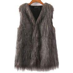 Faux Fur Slim Vest ❤ liked on Polyvore featuring outerwear, vests, vest, vest waistcoat, faux fur vest, slim vest, faux fur waistcoat i fake fur vest
