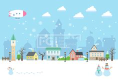SILL151, 겨울배경, 벡터, 풍경, 에프지아이, 겨울, 배경, 백그라운드, 오브젝트, 건물, 눈사람, 마을, 실루엣, Background…