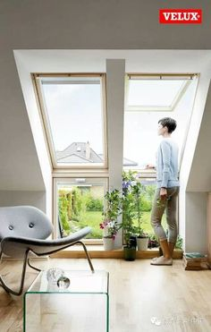 Perhaps these would work Loft Room, Bedroom Loft, House Windows, Windows And Doors, Attic Bedrooms, Modern Tiny House, Roof Window, Attic Apartment, Attic Renovation