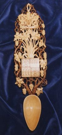 Welsh Love Spoon commissioned by Her Majesty the Queen Mother in 1990