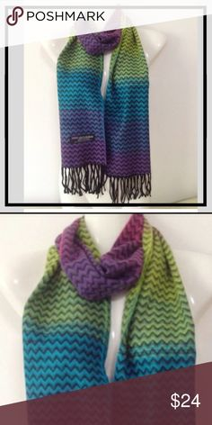 New Multi Color Cashmere Scarf Description 100% Cashmere scarf. 12inx72in long scarf. Super soft and warm.   100% cashmere  MADE IN SCOTLAND. Final price. Bundles always 20% off. ❣photos color true. Made in Scotland 100% Cashmere Accessories Scarves & Wraps