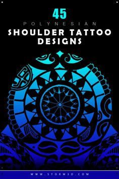 FInd a beautiful series of Polynesian shoulder tattoo designs in high resolution. Stunning tribal flash drawings and inspiring ideas for your next sleeve tattoo!