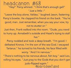 Percabeth wedding..............no I wasn't planning to do anything tonight...I was just going to sit in my room and obsess over this
