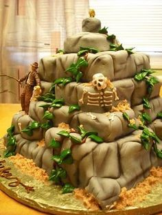 Indiana Jones cake....my son asked me to pin it, he LOVES Indiana Jones!!!!!
