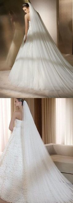 Qishi's Long 118 Inches Double Layer Accesory Wedding Bridal Veil