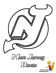 new jersey devils nhl hockey printables