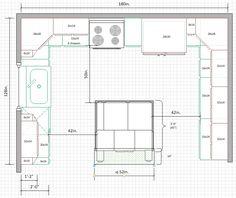 Is a Kitchen too small for U-Shape? Kitchen Room Design, Modern Kitchen Design, Home Decor Kitchen, Kitchen And Bath, Kitchen Interior, Kitchen Ideas, Kitchen Magic, Kitchen Reno, Kitchen Inspiration