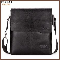 b902cf942197 VICUNA POLO Famous Brand Theftproof Magnetic Button Open Leather Mens Chest  Bags Fashion Travel Crossbody Bag Man Messenger Bag