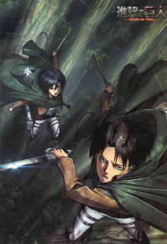 Levi and Mikasa Ackerman Shingeki no Kyojin Attack On Titan Season, Attack On Titan Fanart, Attack On Titan Levi, Manga Anime, Anime Art, Goku Manga, Manga Art, Titan Manga, Personajes Studio Ghibli