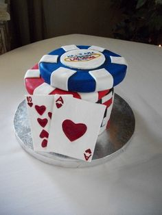 Blackjack groom's cake