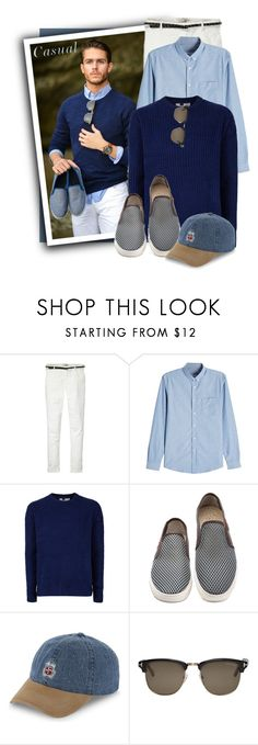 """""""TOPMAN Navy Ribbed Textured Jumper"""" by tasha1973 ❤ liked on Polyvore featuring Maison Scotch, AMI, Topman, Stussy, Tom Ford, men's fashion and menswear"""