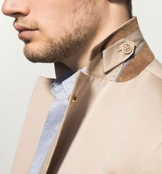 MASSIMO DUTTI - LEATHER DETAIL JACKET