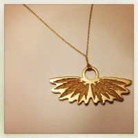 Wings of Leaves Botanical Songfroms Collection Inspired by blending plants and birds gold pendant on chain Gold Pendant, Wings, Gold Necklace, Leaves, Chain, Inspired, Gallery, Plants, Inspiration