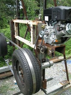 homemade tools Homemade Bandsaw Mill - by @ ~ woodworking community Wood Mill, Lumber Mill, Metal Projects, Welding Projects, Homemade Bandsaw Mill, Homemade Chainsaw Mill, Chainsaw Mill Plans, Diy Bandsaw, Homemade Tools