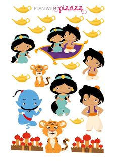 Disney ALADDIN inspired Themed Planner Sticker by PlanwithPizazz