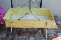 Vintage 1960's Pride Products Portable Baby Doll Bed/ Bassinet Carrier