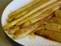 Gourmandises végétariennes: Orangenspargel mit Rosmarinkartoffeln (vegan)