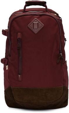 VISVIM Burgundy Ballistic 20L Backpack. #visvim #bags #lining #nylon #backpacks #suede #