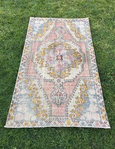 "Impressive Medallion Rich Coral Colors Trending Turkish Oushak Rug 4'x6'9"" | Antiques, Rugs & Carpets | eBay!"