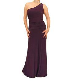 Amazon.com: Blue Banana - One Shoulder Long Evening Dress: Clothing