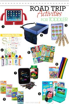 Road Trip With A Toddler! Activities That Will Make it enjoyable for them and YOU! :D