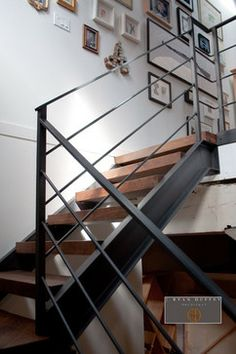 Means Street Loft industrial staircase