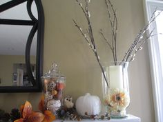 Easy painted white pumpkins...so pretty!!! www.creativity52.com
