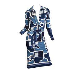 1970s Hermes Sport Silk Jersey Dress | 1stdibs.com