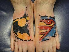 BatSuperMan   http://tattoo-ideas.us/batsuperman/  http://tattoo-ideas.us/wp-content/uploads/2013/06/BatSuperMan.jpg