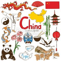 Bilderesultat for great wall of china drawing