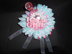Zebra Print Baby Shower Corsage Girl baby by AdreamFulfilled, $14.00