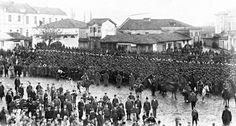 Parts of the Macedonian Adrianople volunteers in Komotini,November 1912