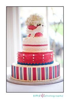 Angie + Ryan  pink, blue, lace, stripes