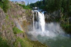 Snoqualmie Falls/ Washington state/ Water Fall/ Salish/ Hotel/ Rainbow/ WA by Jeka World Photography, via Flickr