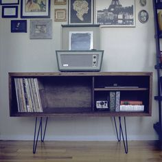 The Ivan Record Cabinet by modernarks on Etsy https://www.etsy.com/listing/386892170/the-ivan-record-cabinet