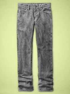 Straight jeans (crushed gray wash)